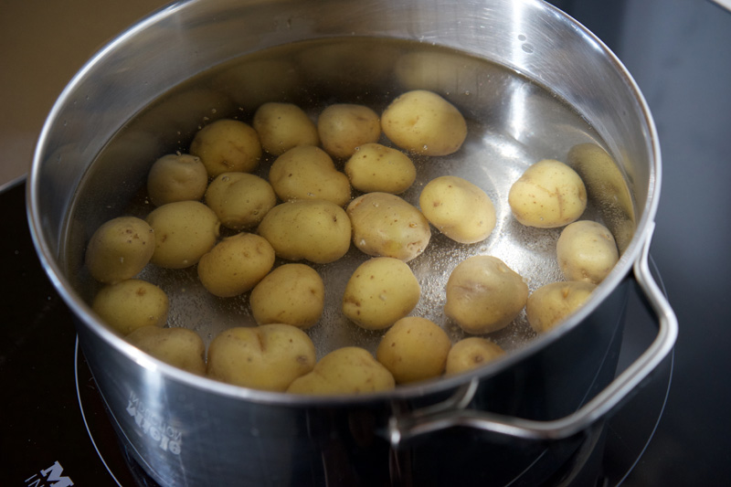 Potatoes in the pot