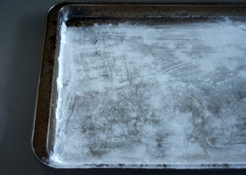 Baking sheet buttered and dusted with flour