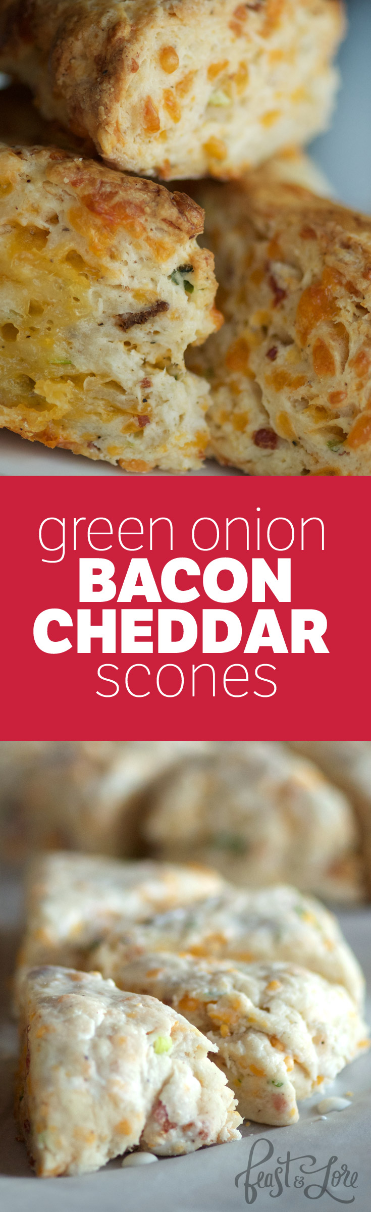 Savoury scones with melted cheese and bacon