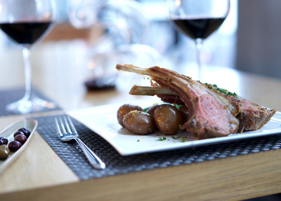 Rack of lamb looks elegant on the plate