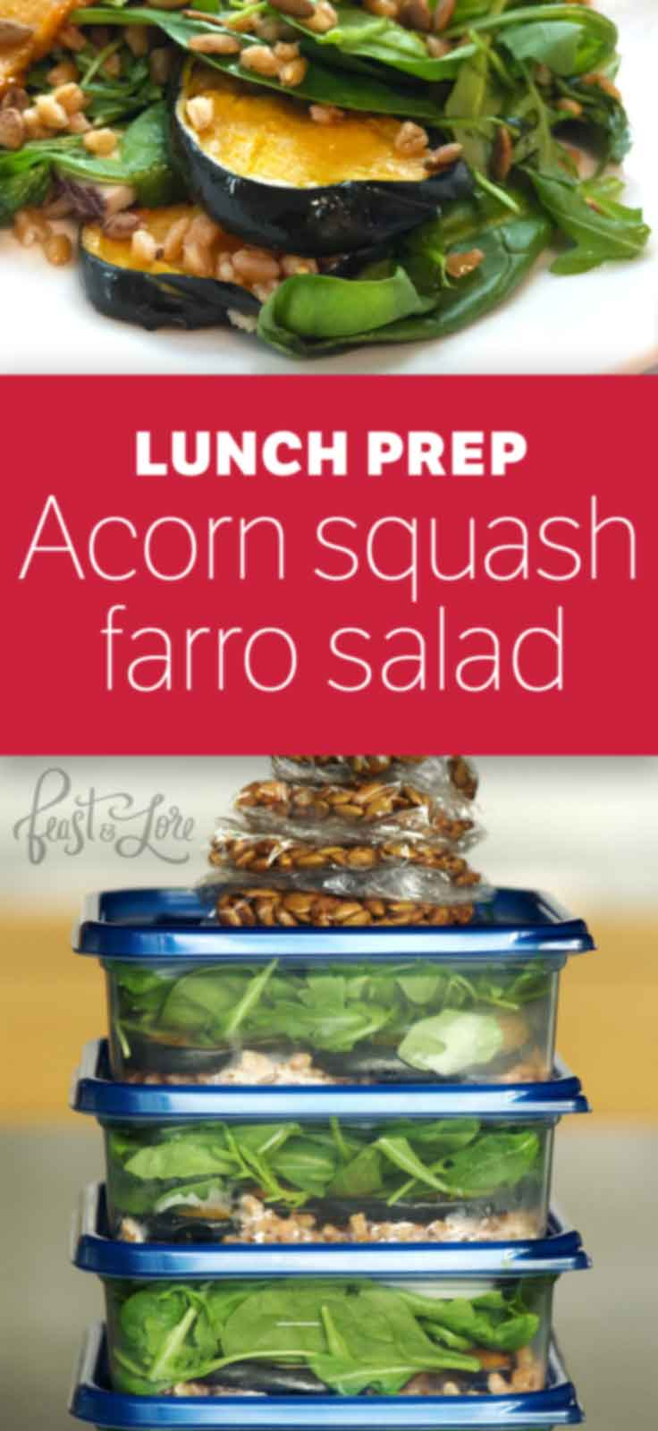 Acorn Farro Salad with Pumpkin Seeds