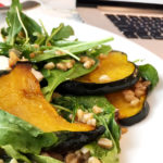 Make-ahead salad with farro, squash and arugula wins lunch!