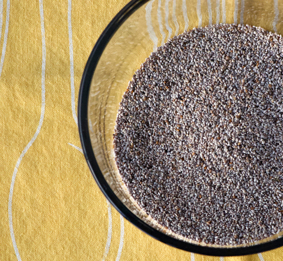 Plain whole white chia seeds
