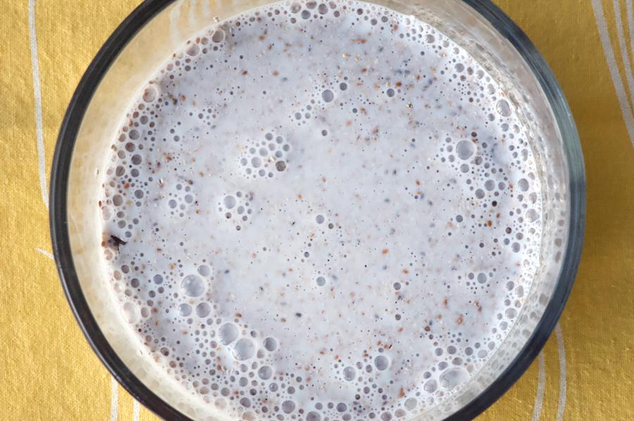 Soak chia seeds in milk overnight