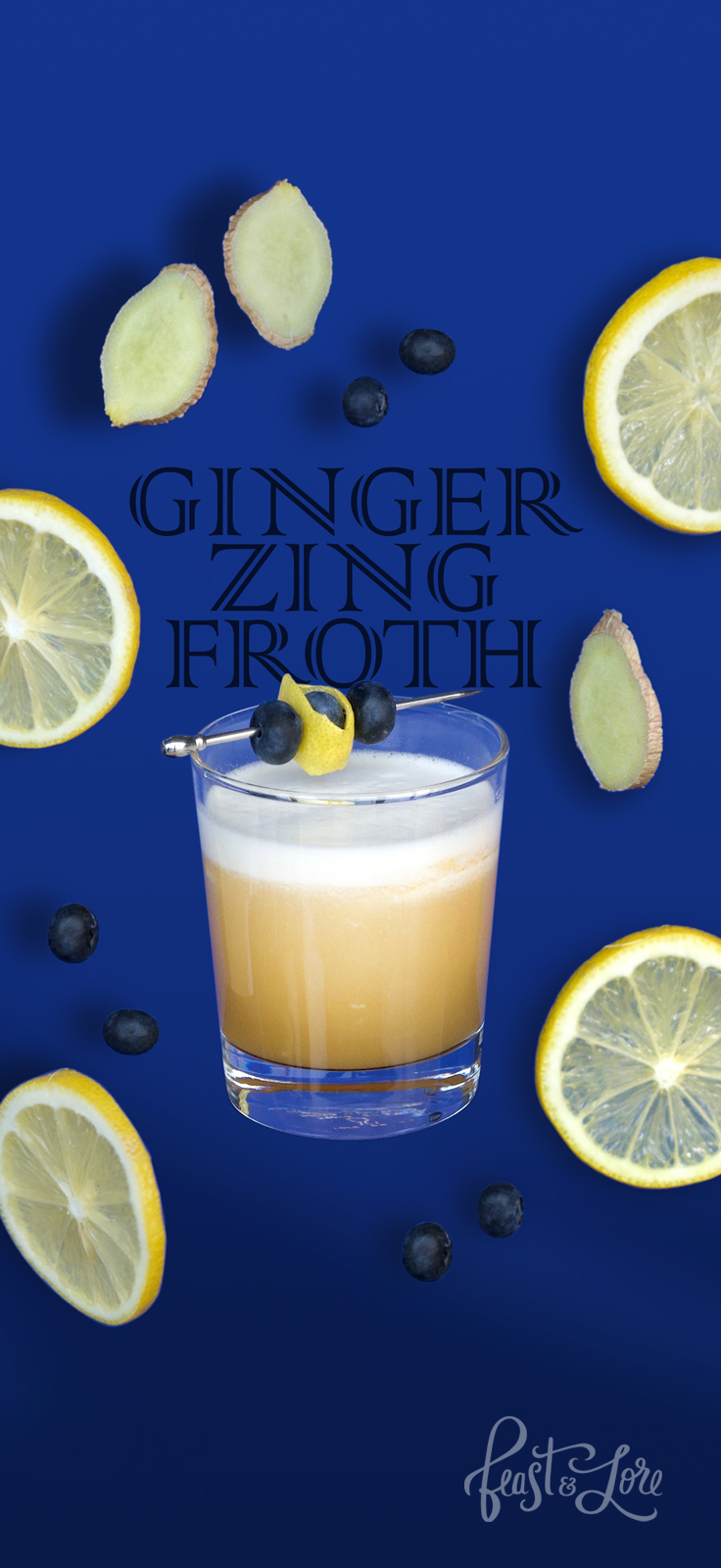 Amaretto Sour - Ginger Zing Froth