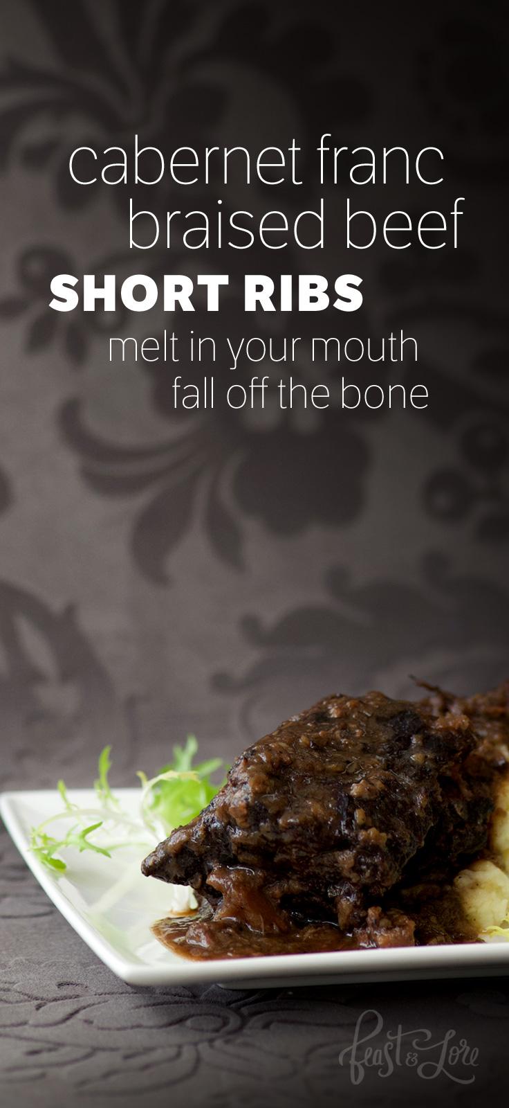 Cabernet Franc braised beef short ribs
