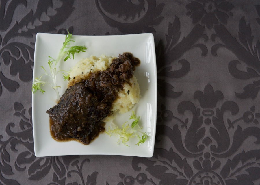 Cabernet Franc braised shortrib with parsnip potato mash
