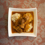 Hungarian Goulasch with Sauerkraut and Bread Dumplings