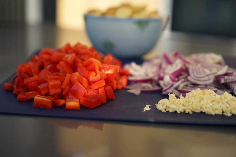 Mise en place - prep all your veggies in advance